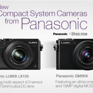 Panasonic GM5 and LX100