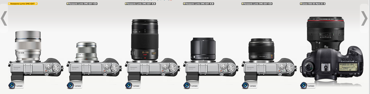 Micro Four Thirds Portrait Lens Size Comparison